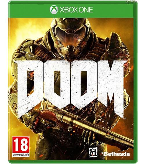 Doom Xbox One Disco Fisico Dvd Original Dublado Br Promoção