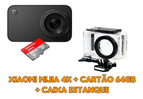 Xiaomi Mijia 4k + Micro Sd Sandisk 64gb + Caixa Estanque