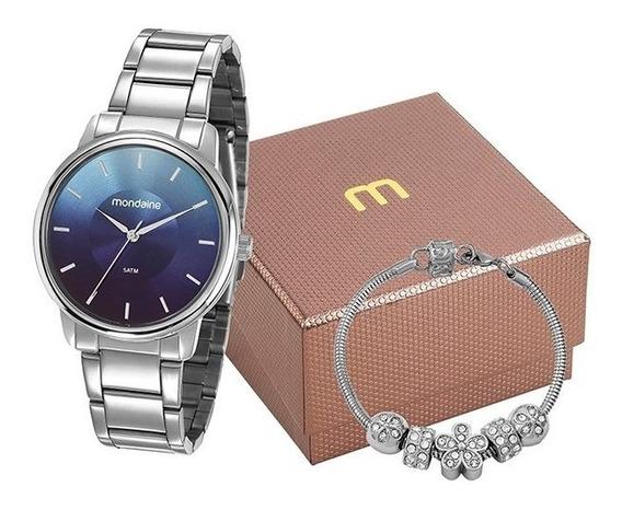 Kit Relógio Mondaine Feminino Prata 53606l0mvne6k