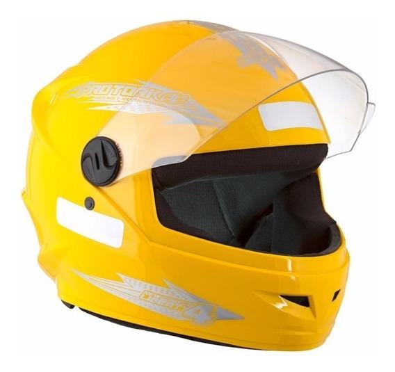 Capacete De Moto Pro Tork New Liberty 4 Amarelo Tamanho 58