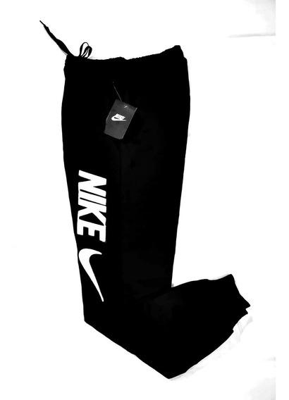 Pants Negro Algodón Jogger Letras Bordadas Aplicación De Nik
