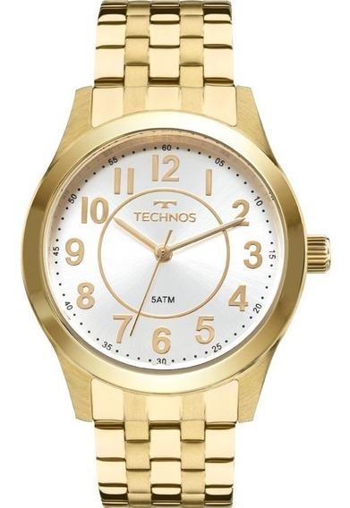 Relógio Technos Feminino Dourado Elegance 2035mjd/4k