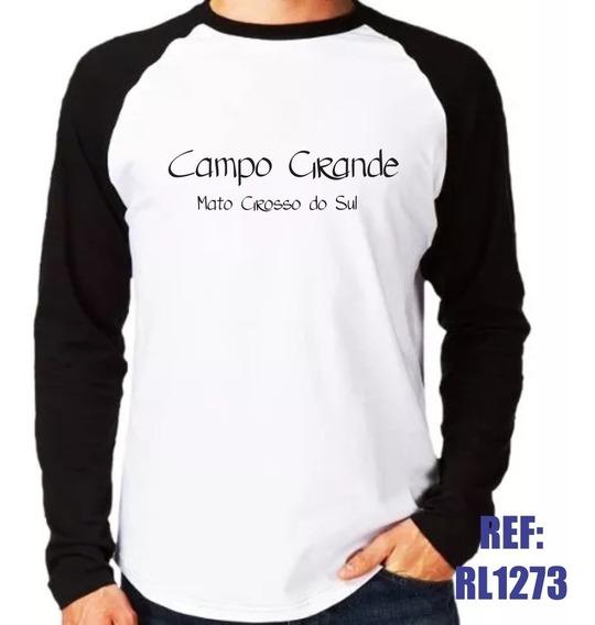 Camisa Raglan Manga Longa Campo Grande Mato Grosso Do Sul