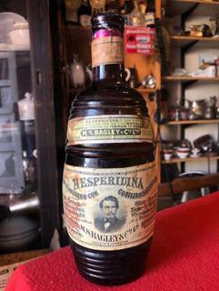 Antigua Botella Barril De Hesperidina Bagley Con Contenido