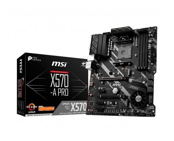 Motherboard Msi X570-a Pro Amd Am4 Ddr4 Usb 3.0