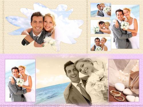 1000 Plantillas Photoshop Fotolibros, Collage Bodas, Xv Años