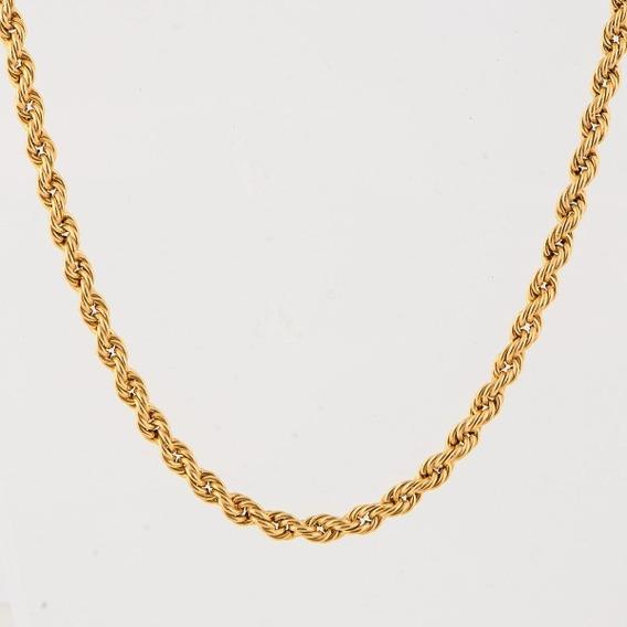 Cordão Torsade Em Ouro 18 K Comprimento 72 Cm Peso 18,4 Gr