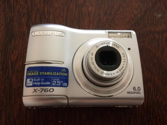 Câmera Digital Olympus 6.0 Mp X-760 + Cartão 2gb Xd Olympus