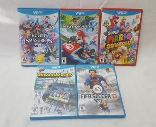 Lote Juegos Nintendo Wii U Super Smash Mario Kart 3d World