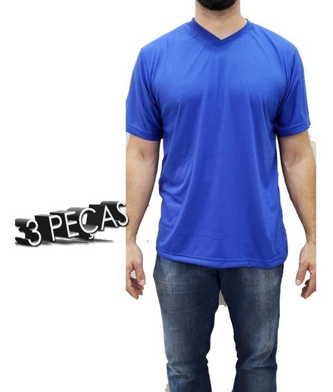 Uniforme Profissional Camiseta M/c Kit Com 3 Camisetas