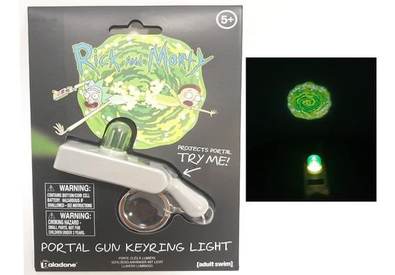 Rick Y Morty Llavero Luz Pistola Portal Gun Nuevo Original