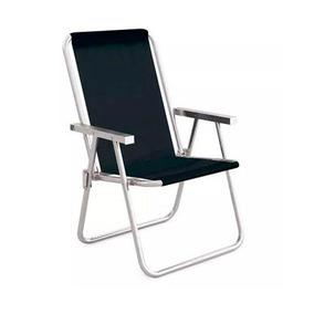 Cadeira Alta Conforto Mor, Alumínio, Preta - 2159