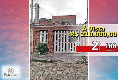 Casa Com 2 Dormitórios À Venda Por R$ 210.000,00 - Vila Guilhermina - Praia Grande/sp - Ca0058