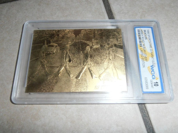 The Beatles Cartão Placa Comemorativa Banho 24kt Ouro