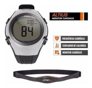 Relógio Monitor Cardíaco Atrio Altius Branco Com Cinta Para