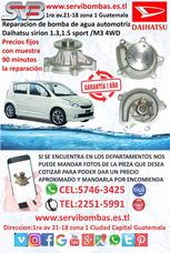 Bombas De Agua Automotrices Daihatsu Sirion 1.3,1.5