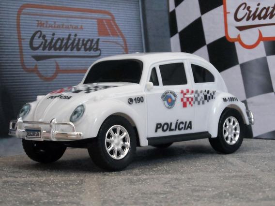 Miniatura Viatura Fusca Polícia Militar Pm Sp ± 1/18