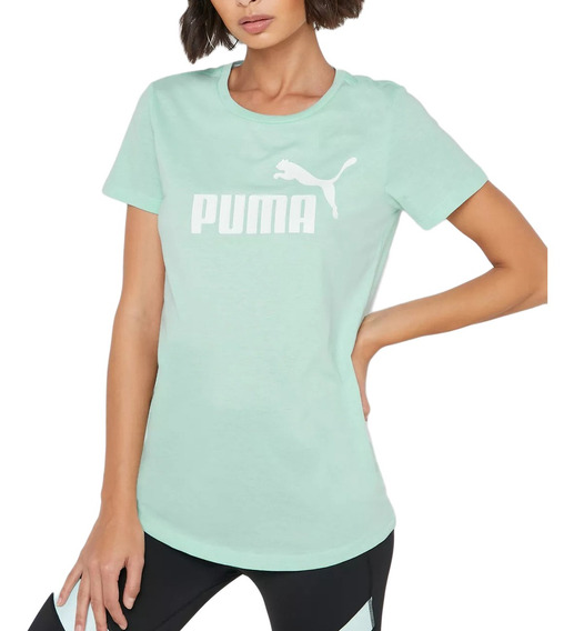Remera Puma Moda Essential + Logo Heather Mujer Va