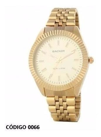 Relogio Backer 3148145 Dourado Fundo Branco Na Caixa Novo
