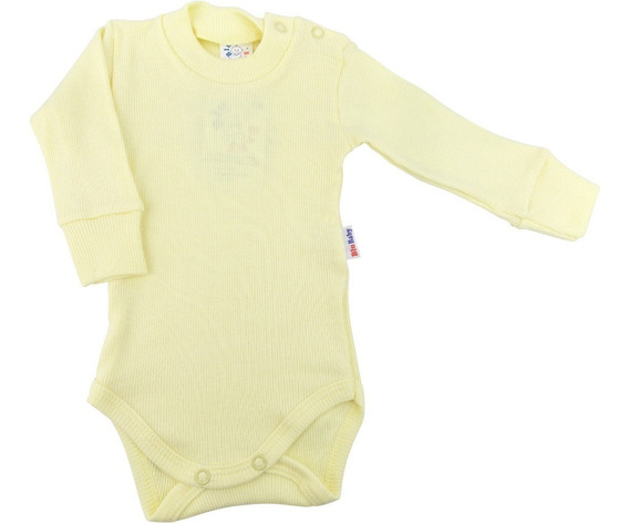 Body Bebê Kit 3 Bodies Manga Longa Ribana Canela Liso