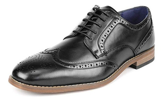 Zapatos Oxford Wingtip Estilo Italiano Bostoniano Casual