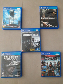 Conjunto Com 5 Jogos De Ps4