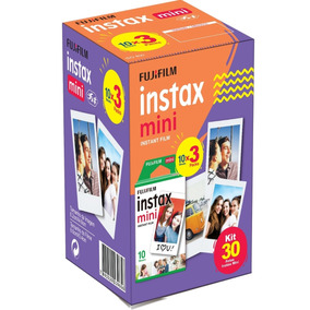 Filme Instax Mini Fujifilm Pack Com 30 Poses/fotos