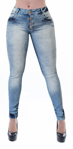 Calça Jeans Feminina Cheris Estilo Pitbull Levanta Bumbum