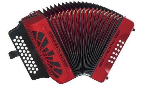 Imagen 1 de 1 de Hohner Compadre Gcf Acordeon Color Rojo