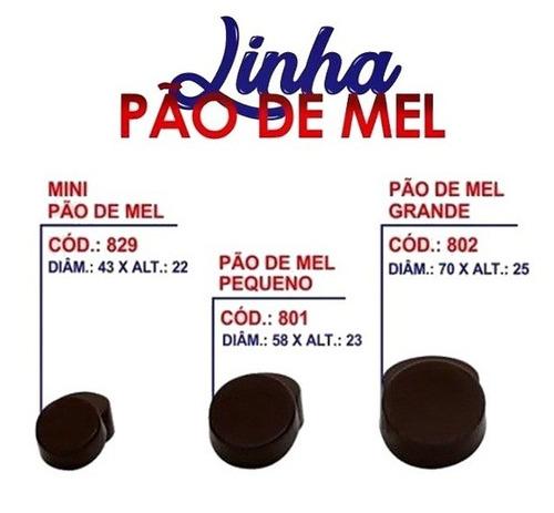 Kit Forma Pão De Mel Mini Pequeno E Grande Silicone Bwb