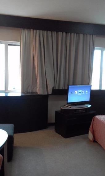 Flat Mobiliado Para Locação No Paraíso - 1 Dormitório - 1 Vaga De Garagem! - Fl0692