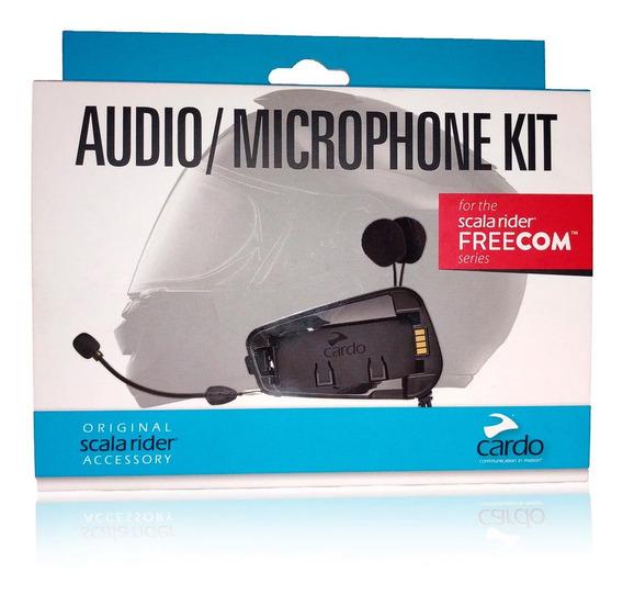 Audio Kit Y Microfono Intercom Cardo Scala Rider Freecom