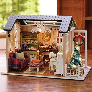 Kisoy Romantica Y Linda Casa De Muñecas Miniature Diy House