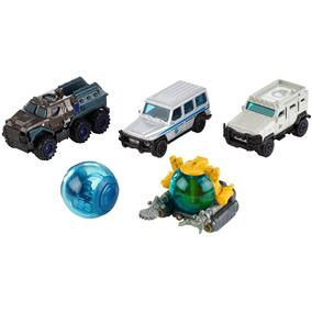 Kit C/5 Carros Jurassic World 1:64 Matchbox