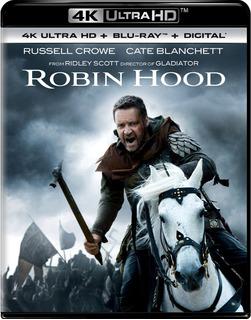 4k Ultra Hd + Blu-ray Robin Hood (2010) / De Ridley Scott