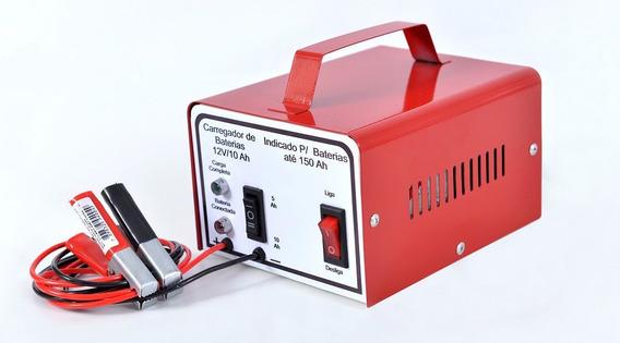 Carregador Baterias Carro Moto Lento Rápido 12v 10ah 110v