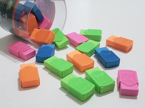Borracha Plastica Escolar Colorida/ Kit Com 24 Unidades