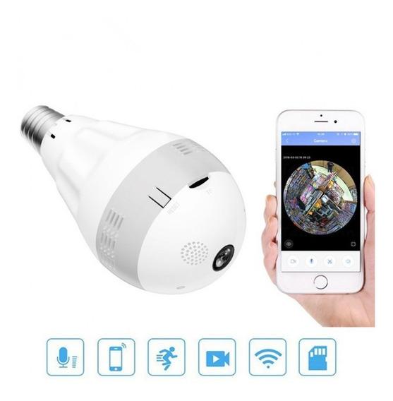 Lampada Espiã Câmera Panorâmica 360