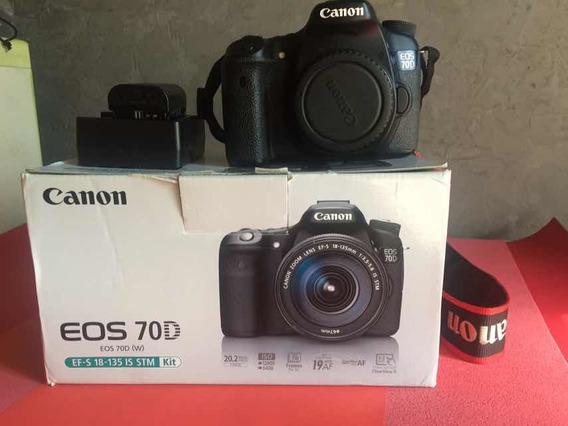 Câmera Canon 70d Ótimo Estado Em 1x 2.380,00