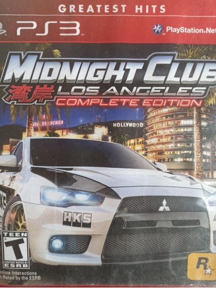 Midnight Club Los Angeles Ps3 Original , A Pronta Entrega