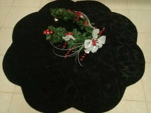 Imagen 1 de 4 de Pie De Árbol De 135 Cm Diámetro En Terciopelo Negro