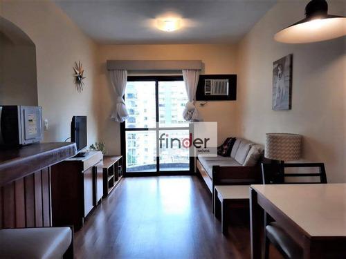 Imagem 1 de 7 de The First Full Na Rua Batataes, 308 | Flat Mobiliado, 40 M², Sacada, 1 Dormitório, 1 Vaga E Lazer Completo. Incluso Camareira E Manobrista - Ap13163