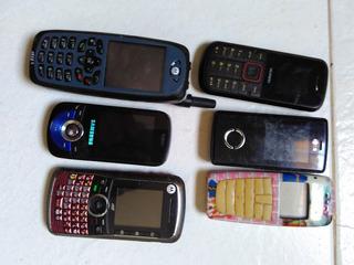 Lote 6 Celulares Conserto Samsung Lg Motorola Huawei Nextel