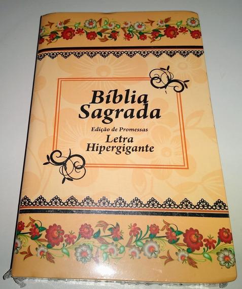 Bíblia Sagrada Laranja Com Índice E Harpa.