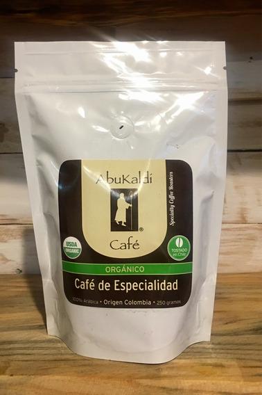 Café De Grano Orgánico Colombiano. Recién Tostado 250 G.