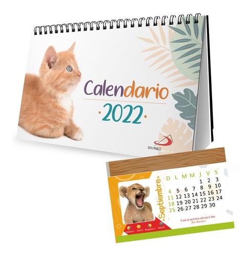 Imagen 1 de 2 de Calendario De Escritorio - Animalitos 2022 - Por 4 Unidades