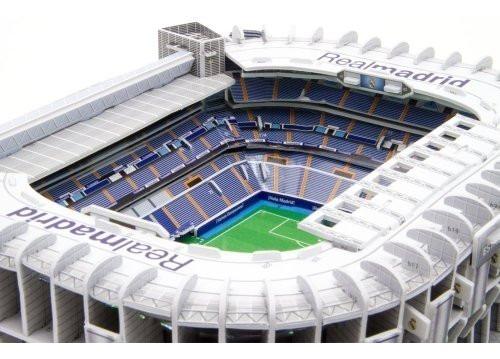 Maqueta Estadio 3d Para Armar Con Luces! Cancha Real Madrid