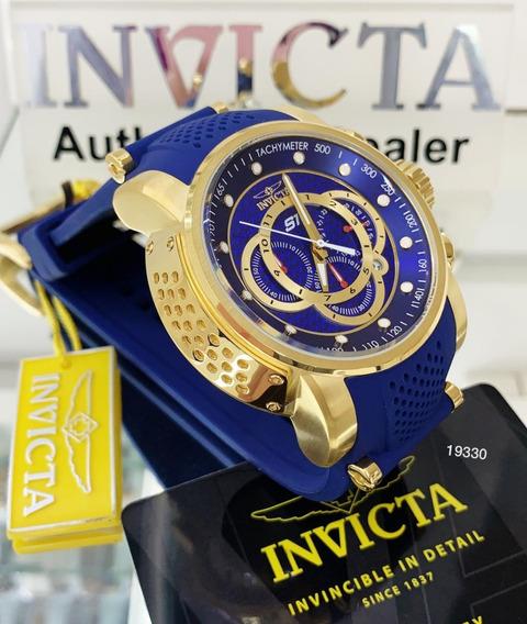 Relógio Invicta S1 Rally 19330 52mm B.ouro 18k Frete Grátis
