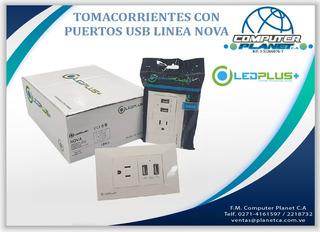 Toma Corriente + 2 Puertos Usb 2.1 Amp Ledplus Tienda Fisica