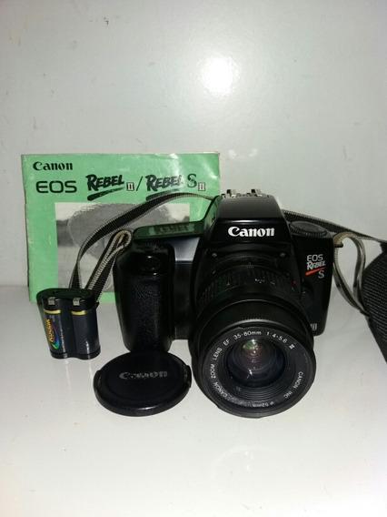 Camera Canon Eos Rebel Analogica Lente Bateria Bolsa Manual